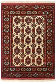 Turkaman Rug 104X142 Authentic  Oriental Handknotted Dark Red (Wool, Persia/Iran)