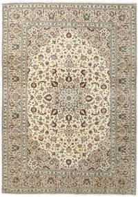 Keshan Rug 250X357 Authentic  Oriental Handknotted Beige/Light Grey Large (Wool, Persia/Iran)