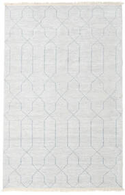 Bamboo Silk Handloom Rug 160X230 Authentic  Modern Handknotted Beige/Light Grey/White/Creme ( India)