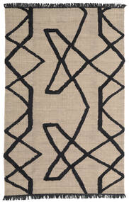Boho Fish - Grey/Black Rug 200X300 Authentic  Modern Handwoven Light Grey/Black (Wool, India)