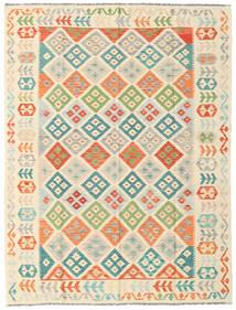 Kilim Afghan Old Style Rug 180X238 Authentic  Oriental Handwoven Beige/Light Pink (Wool, Afghanistan)