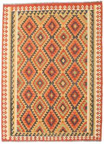 Kilim Afghan Old Style Rug 178X242 Authentic  Oriental Handwoven Orange/Dark Beige (Wool, Afghanistan)