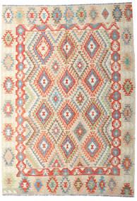 Kilim Afghan Old Style Rug 202X287 Authentic  Oriental Handwoven Dark Beige/Beige (Wool, Afghanistan)