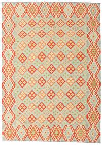 Kilim Afghan Old Style Rug 208X293 Authentic  Oriental Handwoven Beige/Orange/Dark Beige (Wool, Afghanistan)