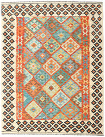 Kilim Afghan Old Style Rug 157X201 Authentic  Oriental Handwoven Beige/Orange (Wool, Afghanistan)