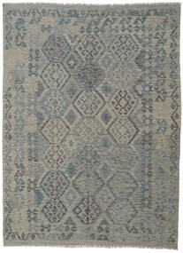 Kilim Afghan Old Style Rug 180X245 Authentic  Oriental Handwoven Dark Grey/Light Grey (Wool, Afghanistan)