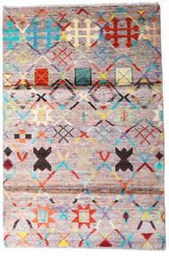 Moroccan Berber - Afghanistan Rug 119X177 Authentic  Modern Handknotted Beige/Dark Grey (Wool, Afghanistan)