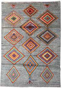 Moroccan Berber - Afghanistan Rug 125X178 Authentic  Modern Handknotted Light Grey/Dark Grey (Wool, Afghanistan)
