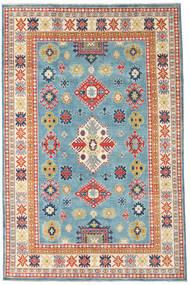 Kazak Rug 193X296 Authentic  Oriental Handknotted Dark Beige/Turquoise Blue (Wool, Afghanistan)