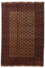 Afghan Rug 201X294 Authentic  Oriental Handknotted Dark Red/Brown (Wool, Afghanistan)