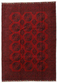 Afghan Rug 206X288 Authentic  Oriental Handknotted Dark Red/Crimson Red (Wool, Afghanistan)