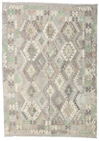 Kilim Afghan Old Style Rug 176X246 Authentic  Oriental Handwoven Light Grey/Dark Beige (Wool, Afghanistan)