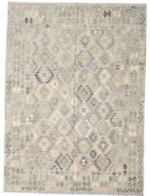 Kilim Afghan Old Style Rug 207X280 Authentic Oriental Handwoven Light Grey (Wool, Afghanistan)
