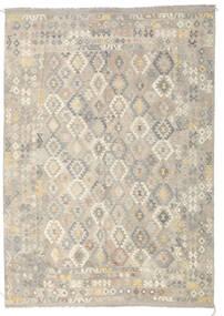 Kilim Afghan Old Style Rug 246X349 Authentic  Oriental Handwoven Light Grey/Dark Beige (Wool, Afghanistan)