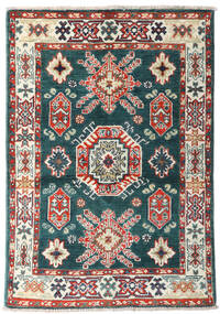 Kazak Rug 87X126 Authentic Oriental Handknotted Blue/Beige (Wool, Afghanistan)