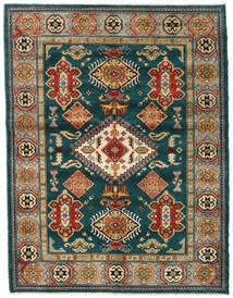 Kazak Rug 155X203 Authentic  Oriental Handknotted Dark Green/Dark Blue (Wool, Afghanistan)