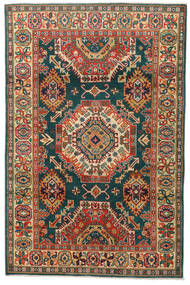 Kazak Rug 119X183 Authentic Oriental Handknotted Dark Grey/Crimson Red (Wool, Pakistan)