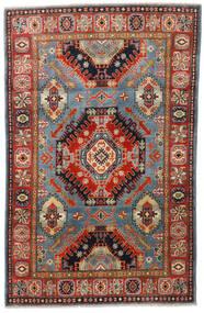Kazak Rug 117X185 Authentic  Oriental Handknotted Dark Brown/Rust Red (Wool, Afghanistan)