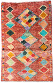 Moroccan Berber - Afghanistan Rug 90X138 Authentic  Modern Handknotted Rust Red/Beige (Wool, Afghanistan)