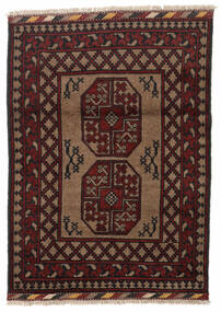 Afghan Rug 86X119 Authentic  Oriental Handknotted Dark Brown/Dark Red (Wool, Afghanistan)