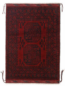 Afghan Rug 85X117 Authentic  Oriental Handknotted Dark Red/Dark Brown (Wool, Afghanistan)