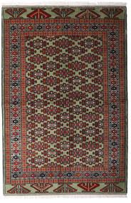 Turkaman Rug 138X207 Authentic  Oriental Handknotted Dark Red/Dark Brown (Wool, Persia/Iran)
