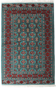 Turkaman Rug 140X208 Authentic  Oriental Handknotted Black/Dark Green (Wool, Persia/Iran)