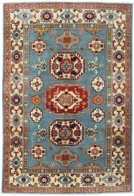Kazak Rug 122X180 Authentic  Oriental Handknotted Dark Red/Light Grey (Wool, Afghanistan)