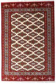 Turkaman Rug 140X203 Authentic  Oriental Handknotted Dark Red/Yellow (Wool, Persia/Iran)