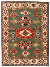Kazak Rug 155X211 Authentic  Oriental Handknotted Dark Green/Crimson Red (Wool, Afghanistan)