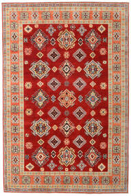 Kazak Rug 200X303 Authentic  Oriental Handknotted Rust Red/Dark Red (Wool, Afghanistan)