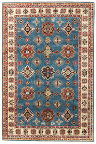 Kazak Rug 199X302 Authentic  Oriental Handknotted Dark Blue/Light Brown (Wool, Afghanistan)