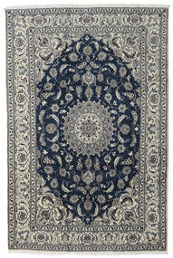 Nain Rug 197X296 Authentic  Oriental Handknotted Dark Grey/Light Grey/Dark Blue (Wool, Persia/Iran)