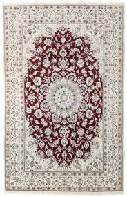 Nain Rug 194X305 Authentic  Oriental Handknotted Light Grey/Dark Brown (Wool, Persia/Iran)