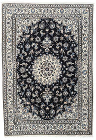 Nain Rug 167X243 Authentic  Oriental Handknotted Black/Dark Grey (Wool, Persia/Iran)