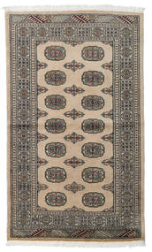 Pakistan Bokhara 2Ply Rug 96X161 Authentic  Oriental Handknotted Light Grey/Dark Grey (Wool, Pakistan)