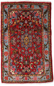 Asadabad Rug 70X108 Authentic Oriental Handknotted Dark Brown/Dark Red (Wool, Persia/Iran)