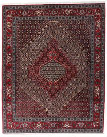 Senneh Rug 123X154 Authentic  Oriental Handknotted Dark Red/Dark Brown/Dark Grey (Wool, Persia/Iran)