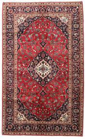 Keshan Rug 147X240 Authentic  Oriental Handknotted Dark Brown/Dark Red (Wool, Persia/Iran)