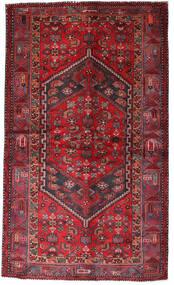 Hamadan Rug 135X228 Authentic  Oriental Handknotted Dark Red/Crimson Red (Wool, Persia/Iran)
