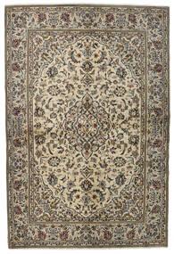 Keshan Rug 137X205 Authentic  Oriental Handknotted Light Grey/Dark Grey (Wool, Persia/Iran)