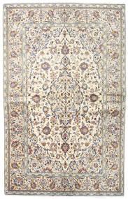 Keshan Rug 140X218 Authentic  Oriental Handknotted Light Grey/Beige (Wool, Persia/Iran)
