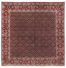 Bidjar With Silk Rug 202X206 Authentic Oriental Handknotted Square Dark Red/Dark Brown (Wool/Silk, Persia/Iran)