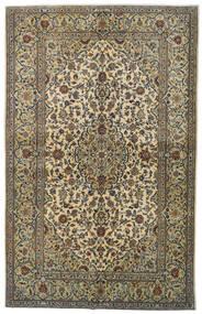 Keshan Rug 142X224 Authentic  Oriental Handknotted Dark Grey/Light Green (Wool, Persia/Iran)