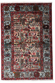 Hamadan Rug 100X150 Authentic Oriental Handknotted Black/Dark Red (Wool, Persia/Iran)