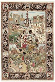 Tabriz 50 Raj Rug 150X219 Authentic Oriental Handknotted Brown/Light Brown (Wool/Silk, Persia/Iran)