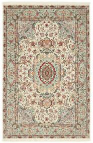 Tabriz 70 Raj Silk Warp Rug 100X152 Authentic Oriental Handknotted Light Grey/Beige (Wool/Silk, Persia/Iran)
