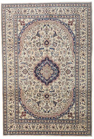 Nain Rug 241X349 Authentic  Oriental Handknotted Light Grey/Dark Grey/Beige (Wool, Persia/Iran)