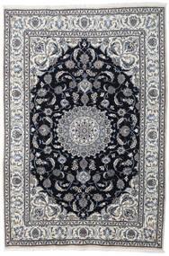 Nain Rug 197X290 Authentic  Oriental Handknotted Light Grey/Dark Grey (Wool, Persia/Iran)