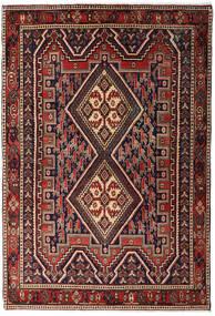 Afshar Shahre Babak Rug 125X182 Authentic  Oriental Handknotted Dark Red/Dark Brown (Wool, Persia/Iran)